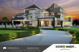 HIND-1037 Architectural house plan villa floor plan package