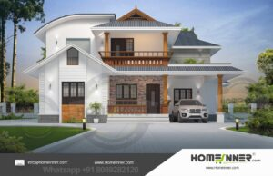 HIND-11001 Architectural house plan villa floor plan package
