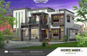 HIND-29989 Architectural house plan villa floor plan package