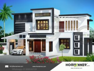 HIND-34060 Architectural house plan villa floor plan package