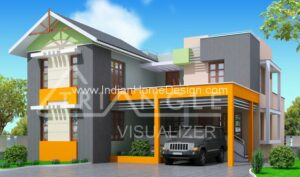 Trendy Kerala Modern house design from Triangle Visualizer team