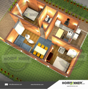 2 room house plan sketches