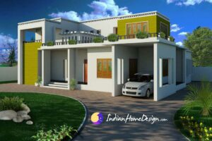Modern Contemporary Flat roof Indian Home Design by Shahid