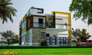 Modern Contemporary TamilNadu Home Design Ideas by Ns Architect