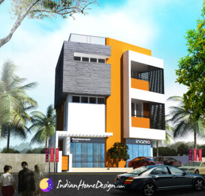 Three floor Apartment Residence in 2cent plot by Outlier Team