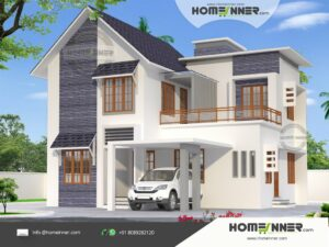High Roof Elegant Budget Home in 1740 sqft 4 Bhk Indian Home Design
