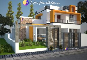 Contemporary Style Home Design of 1830 Sq ft