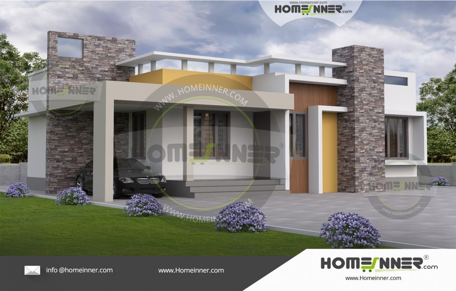 1000 sq ft 3 BHK Small Home Plan