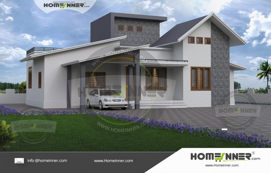 1000 sq ft 3 BHK Small Affordable Home Exterior