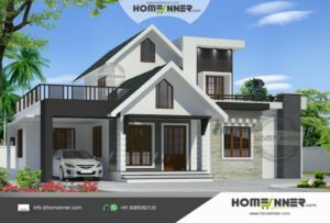 1490 sq ft 3 Bedroom Two Story Small House Plan