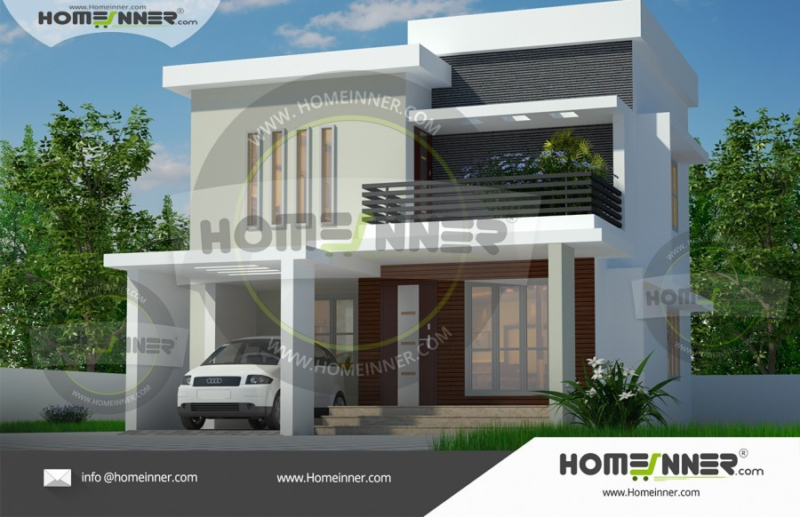 1570 sq ft 3BHK Flat Roof Home Plan