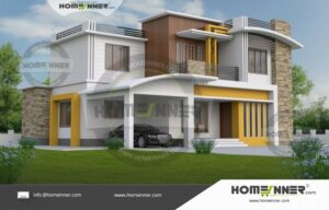 5 Bedroom Contemporary Indian House Plans