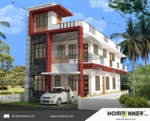 Contemporary style Multi Home Plan