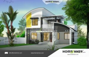 Two Story 1599 sq ft 3 BHK Best House Plan