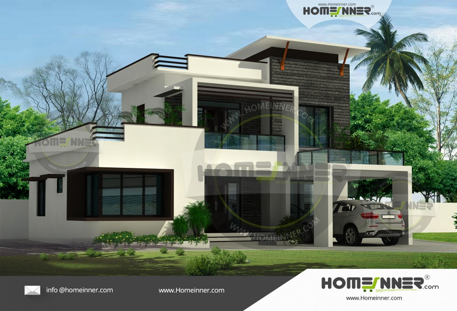 HIND-4045 Architectural house plan villa floor plan package