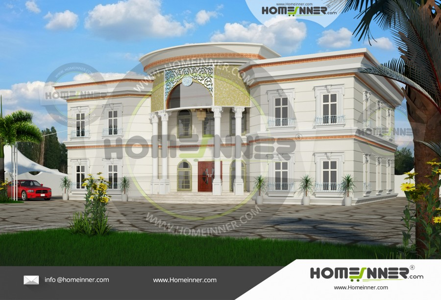 HIND-6030 Architectural house plan villa floor plan package