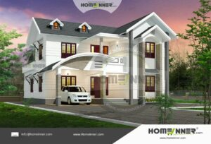 HIND-6081 Architectural house plan villa floor plan package