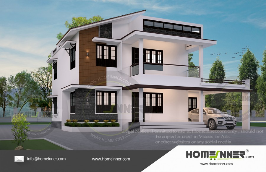 HIND-19967 Architectural house plan villa floor plan package
