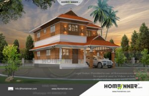 HIND-19969 Architectural house plan villa floor plan package