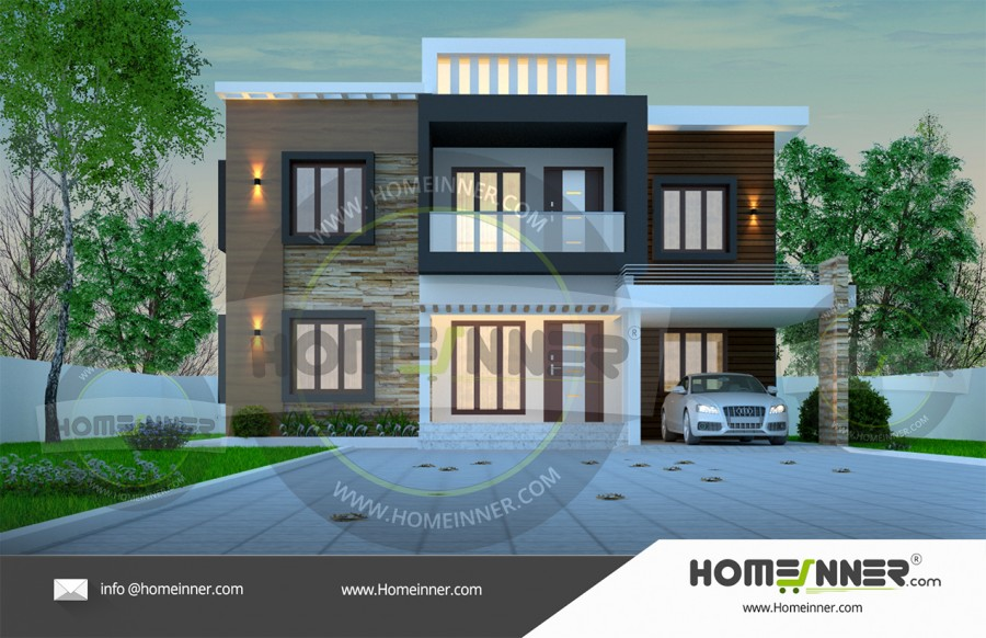 HIND-39975 Architectural house plan villa floor plan package