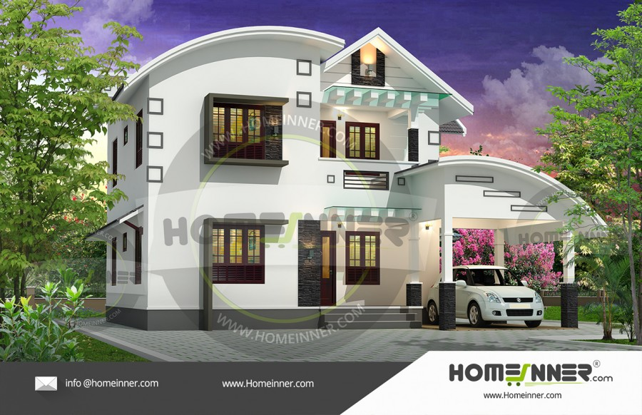 HIND-39994 Architectural house plan villa floor plan package