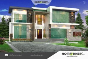 HIND-6020 Architectural house plan villa floor plan package