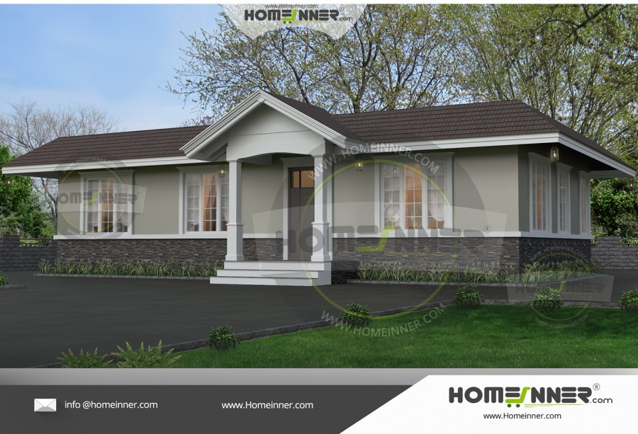 HIND-6079 Architectural house plan villa floor plan package