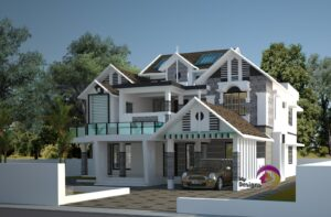 contemporary Style Home Design of 3024 Sqft