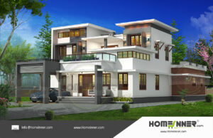 HIND-1034 Architectural house plan villa floor plan package