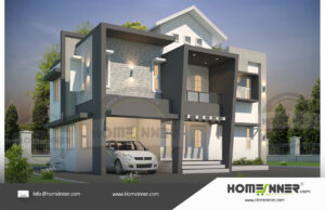 HIND-11042 Architectural house plan villa floor plan package