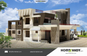 House plan 5 Bedroom 2 car parking 20 cents
