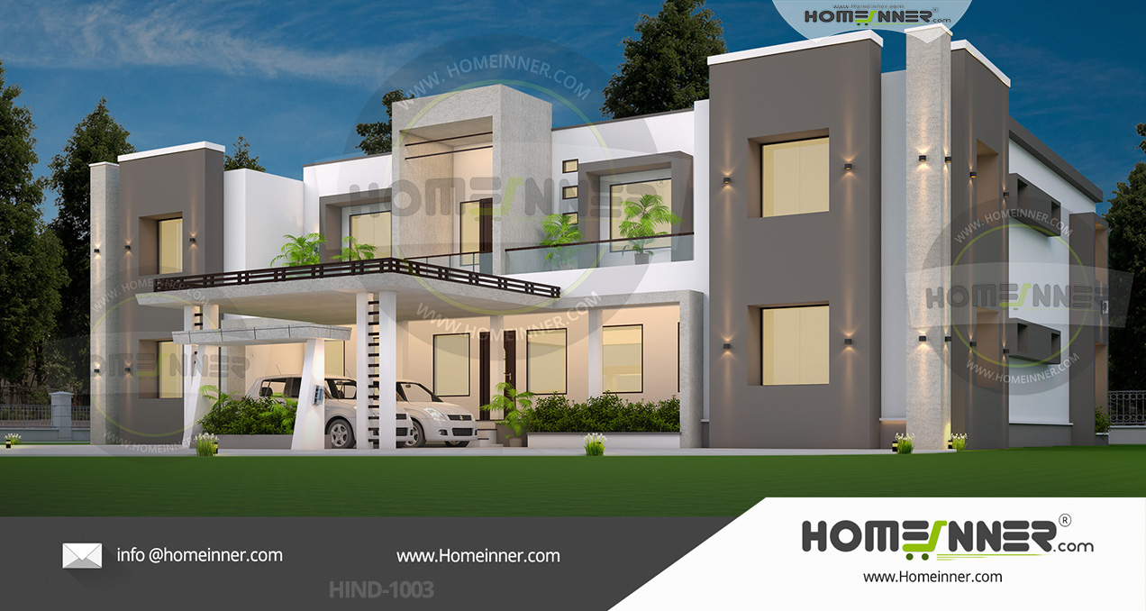 HIND-11003 Architectural house plan villa floor plan package