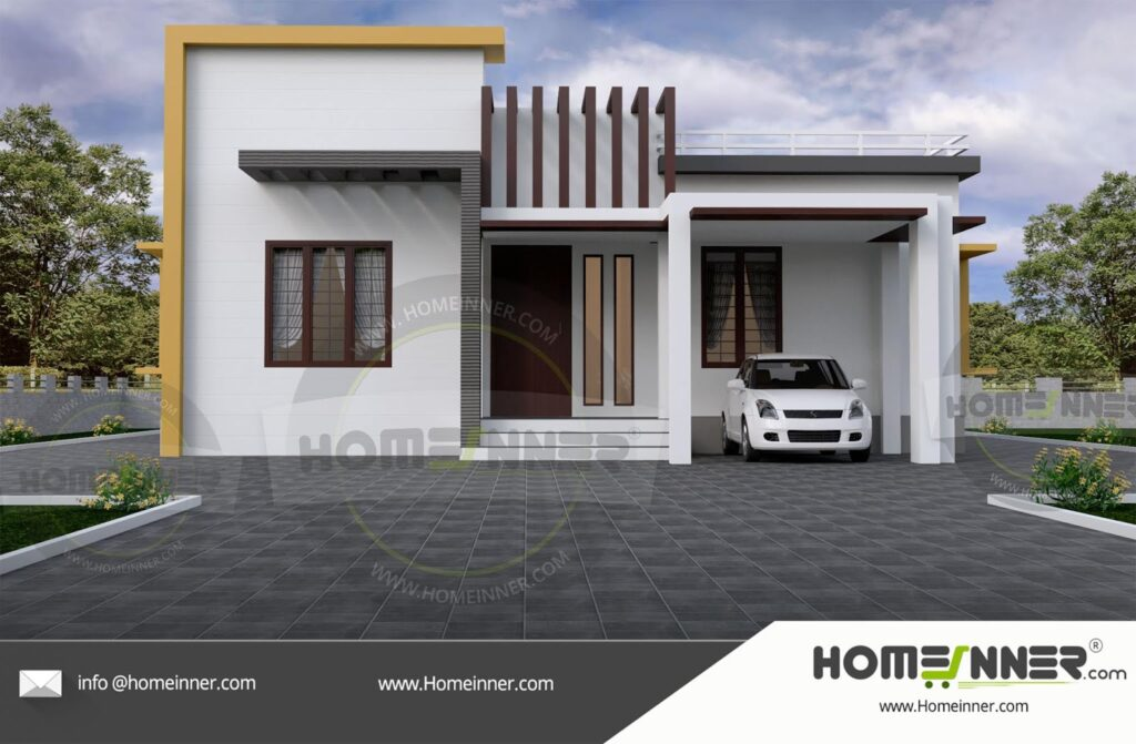 14 Lakh 3 BHK 1000 sq ft Pali Villa floor plan
