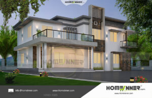 HIND-11005 House plan 3D Elevations