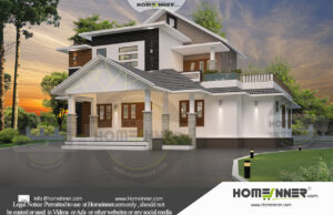 HIND-11030 House plan 3D Elevations