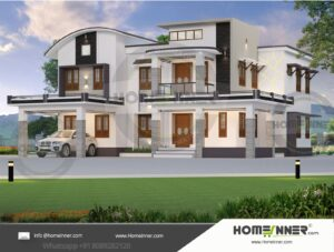 HIND-11035 House plan 3D Elevations