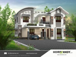 HIND-11094 House plan 3D Elevations