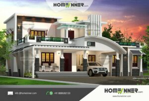 HIND-1110  Home Design Free Estimate  villa construction budget