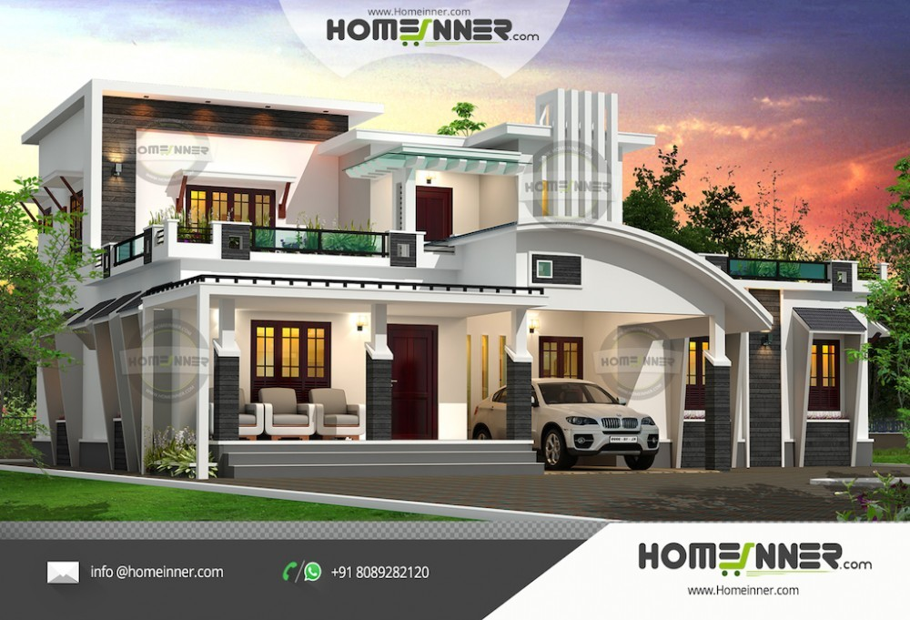 New 3D Elevation design upto 7000 sq ft Total Area