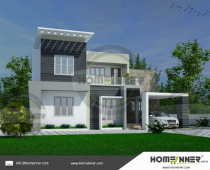 HIND-19996 House plan 3D Elevations