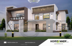 HIND-21004 House plan 3D Elevations