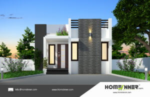 HIND-26071 House plan 3D Elevations