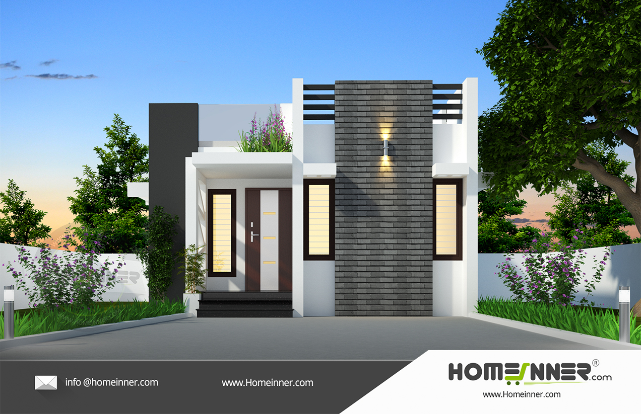 West Tripura 7 Lakh small modern contemporary house plans