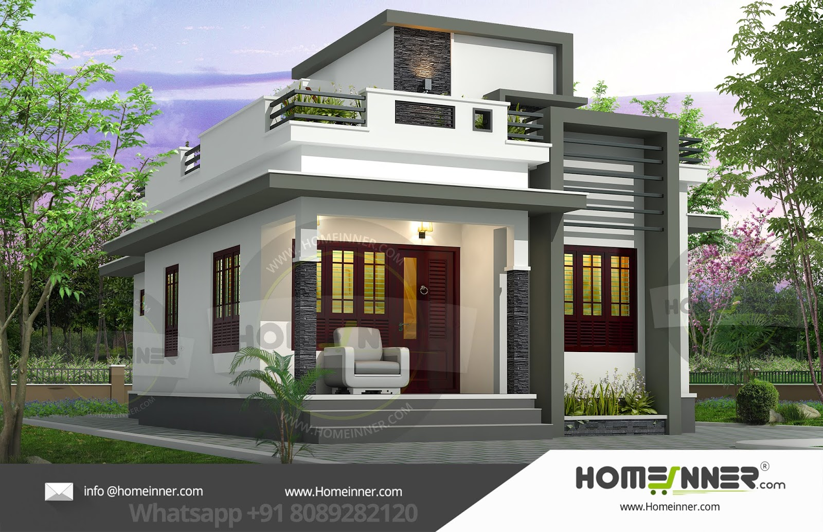 Imphal West 10 Lakh small modern 2 story house plans