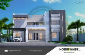 HIND-29999 House plan 3D Elevations