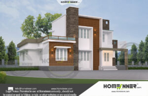 Sagar 24 Lakh flat roof house designs