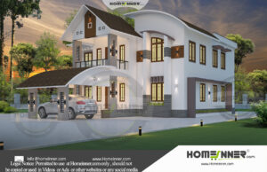 South Tripura 38 Lakh new model house plan and elevation