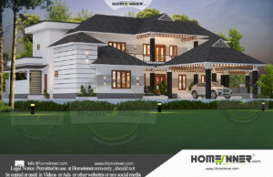 HIND-31028 House plan 3D Elevations