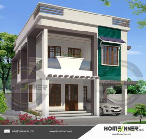 HIND-31162 House plan 3D Elevations