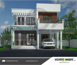 HIND-39981 House plan 3D Elevations